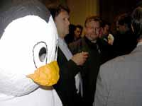 Ein Pinguin zwischen den Schlipsen!